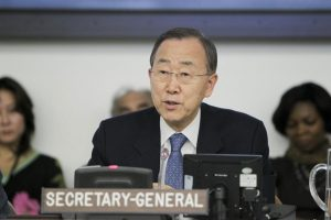 UN Secretary-General Ban Ki-moon - photo UN by Paulo Filgueiras