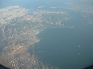 At the centre left the Hellenic Shipyards docks can be easily seen empty - photo courtesy John Faraclas