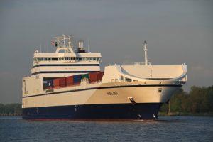 m/v Bore Sea at sea loaded