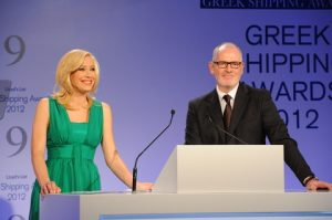 HBC newsreader Andriana Paraskevopoulou joined Nigel Lowry to co-host the event