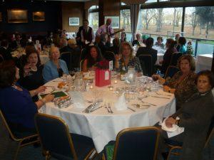 table no. 6 with (l to r) Micky Pangalos, Kiki Hellinikakis, Christina Marinos, Stavroula Xanthakou, Lydia Pateras, Marita Papademetriou, Sophia Niotis and Katerina Jeffrey