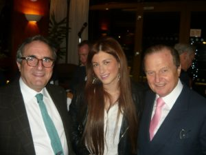 George Doussopoulos with his daughter Natalie and George A. Tsavliris