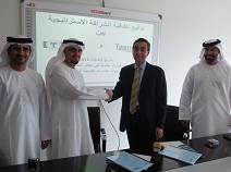 from the signing ceremony on an l to r basis, Rashed Albesi and Andrea di Bella