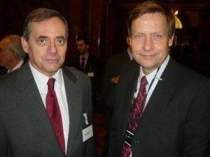 The Greek Ambassador Constantine Bikas and lloyd's Register's Chairman Thomas Thune Andersen