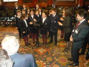 The Hellenic College's junior chorus