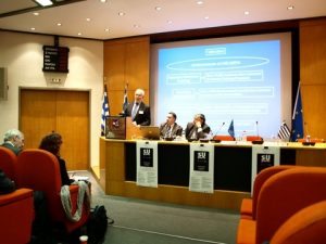HELMEPA's Director General, Mr. Dimitris C. Mitsatsos, HELMEPA's Training Coordinator, Mr. Stelios Volakis and from the Aristotle University Thessaloniki, Professor Aristotelis Naniopoulos.