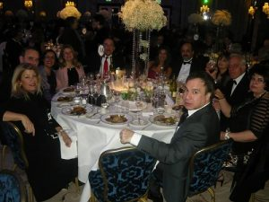 The Zeus table with Anny Zade, The Zarifis', the Leontopoulos, Cyprus' Cultural Councellor Kypros Charalambous and his companion Ashna, the Kyriakides', Magda Chrysomali, and Barnet's Councilor Barry Evangeli