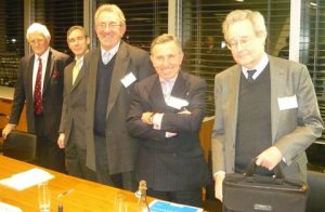 Michael Grey, Dominic Happe, Sir David Steel, Avv Franscesco Siccardi and Luc Grellet