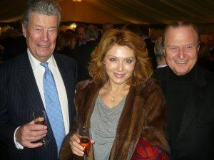 Tom Hammond with Zoe and George Tsavliris