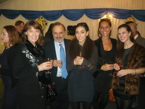 Dr. Nikos Mikelis with his wife and three daughters