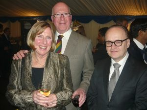 Norma and Ken Maclean with Videotel's Nigel Cleave