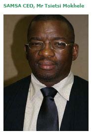 SAMSA CEO Tsietsi  Mokhele