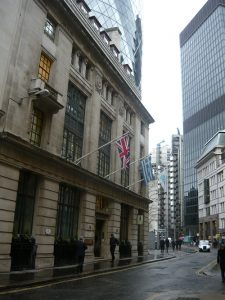 London - The Baltic Exchange where the FONASBA offices