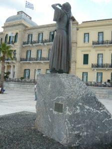 The statue of Laskarina Bouboulina in Sptses, Greece - Women to admire