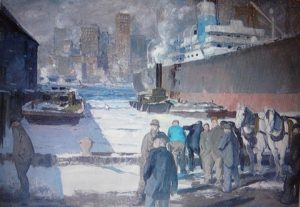 Men of the Dockk, oil on canvas, by George Bellows (Randolph College, Lynchburg)