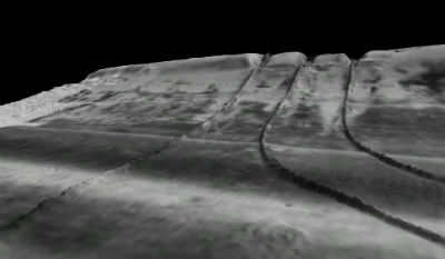 High resolution sonar data is an effective tool for mapping pipelines