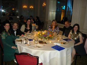 Mr and Mrs Adam Brewsher, Maria Hadjipateras, Dina and Yiannis Polydorou and Demetra Hadjipateras
