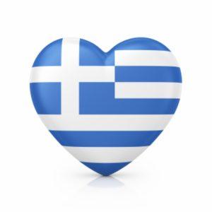 Greek flag love heart