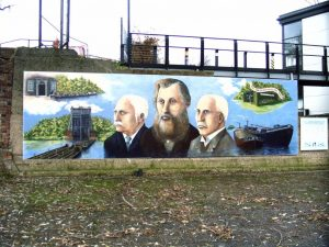 Anderton Boat Lift mural, By Denise Tackley