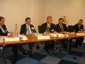 The panel on a l to r basis, with Tim Howse, Steve Cameron, Chairman John Mc Phail, Andrew Webster and Peregrine Storrs-Fox