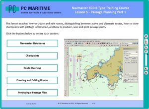 PC Maritime's ECDIS course means officers can be trained and certified without leaving ship.
