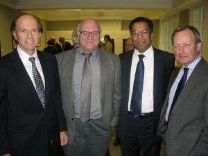 Andreas A. Tsavliris, Coomodore (HCG Rt) Constasntine Amarantides, GSCC Director, Dr. Abdul Rahim of ClassNK and Tim Clark from JSA's London office