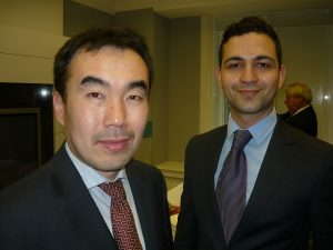 Pacific Basin's Captain S.J. Feng and Kay Afghani