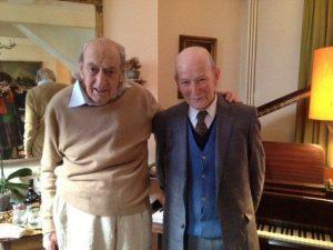 Lloyd's broker Antony Delderfield (left) and Lloyd's barber Leon