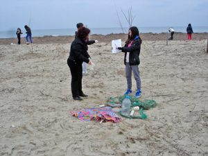 Voluntary beach clean-up on the shores of Port Imeros