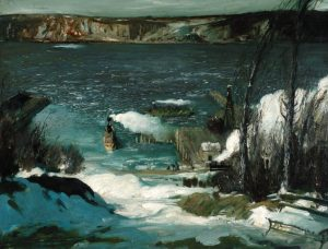 North River, oil on canvas, by George Bellows (Courtesy of the Pennsylvania Academy of the Fine Arts, Philadelphia, Joseph E Temple Fund)