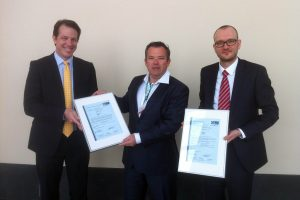 (from left to right): Andreas Schröter, Managing Director GL RC, Frank Coenen, CEO Northwind, Axel Juhnke, Head of Group Project Certification GL RC.