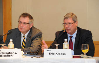 Christopher J. Wiernicki, ABS President and CEO  and Eric Kleess, ABS Pacific Division President and COO