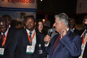 ADML Chairman Anwar Jarmakani (right) with Andrew Yakubu, Group Managing Director, Nigerian National Petroleum Corporation, at Nigeria Oil & Gas 2013.