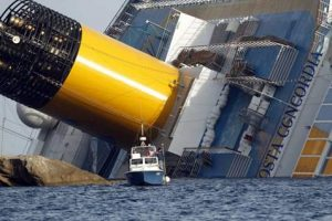 The Costa concordia after the accident