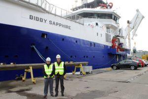 GAC staff attending the first Bibby port call in Aberdeen