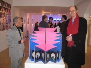 Mali (left) at his latest exhibition.