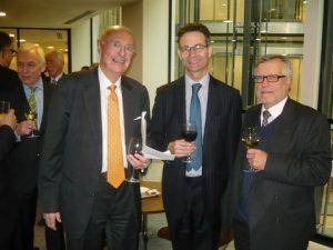 Jim Davis with TLT's Duncan Bateson and Nigel Wilson