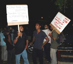 Maldives port workers have held protests outside MPL offices