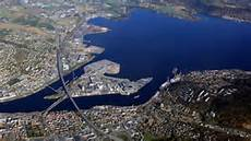 An areal view of the Port of Drammen