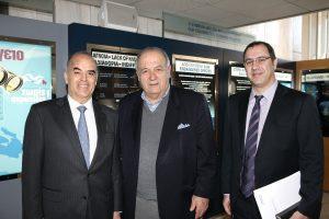 Honorary Vice Chairman, Dr. M. Los, Founding Member Mr. G. Hadjieleftheriadis and HELMEPA Board of Directors Member, Mr. J. Xylas