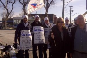 Striking COPE members at Porter FBO
