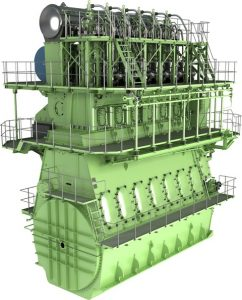 Graphical rendering of the MAN B&W G60ME-C engine