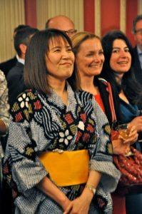 Mrs Tomoko Kenny of Asian Alternative Investments Network enjoyed the evening