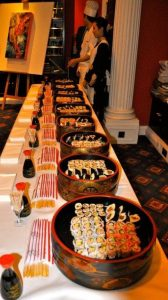 Matsuri Restaurant sushi ready for the party