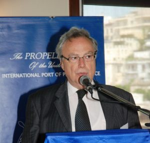 The Moderator of the seminar, Secretary General of the Propeller Club Mr. Th. Kontes