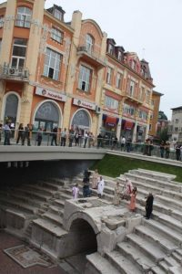 Parts of the stadium have been excavated under Plovdiv's main shopping street