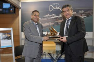 Snapshot from the visit of the Minister of the Minister of Shipping, Maritime Affairs and the Aegean, K. Moussouroulis at the exhibition.