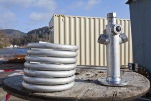 The Parat Halvorsen steam coil (right) alongside a hot water coil