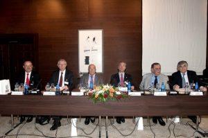 l to r: Mr. Didier Bouttier, Mr. Didier Michaud-Daniel, Captain Panagiotis N. Tsakos, Mr. Philippe Donche-Gay, Mr. George Dalacouras and Mr. Lambros A. Chahalis