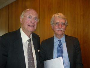 Jim Davis with Peter Stokes